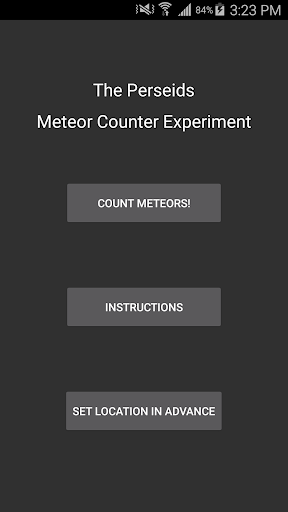 The Perseid Meteor Counter