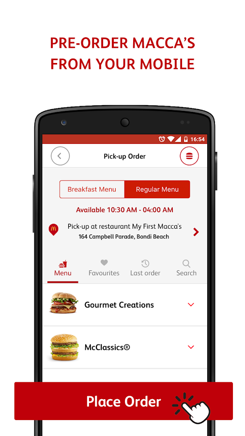 mymacca's Mobile Ordering- screenshot
