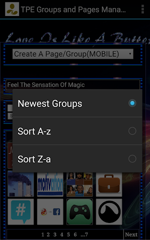 android Groups And Apps Screenshot 1