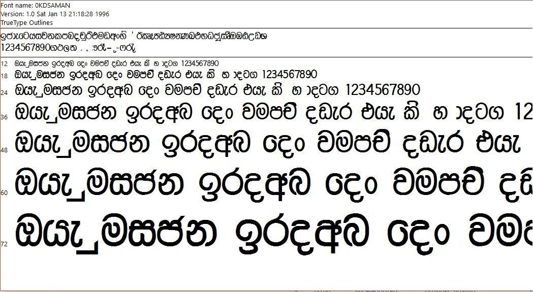 0KD fonts