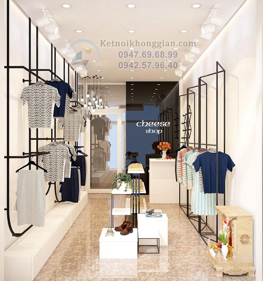 thiết kế cửa hàng thời trang nữ có diện tích 35m2