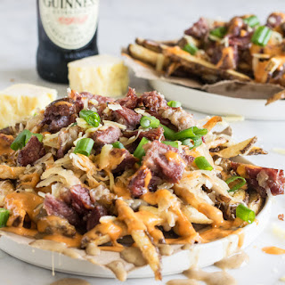 Loaded Leftover Corned Beef St Patrick's Day Fries.