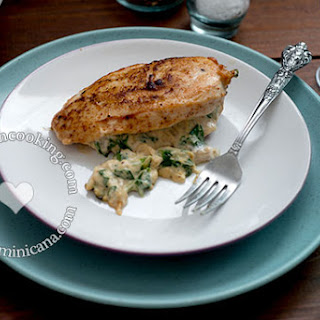 Chicken Breasts Stuffed with Creamy Spinach and Onion.