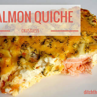 Crustless Salmon Quiche.