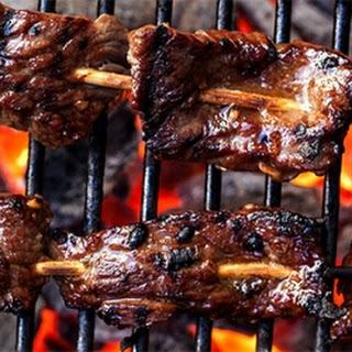 Korean Beef Skewers.