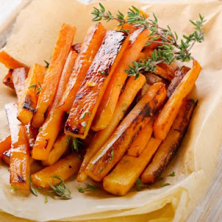 Brown Sugar And Honey Glazed Sweet Potato Strips