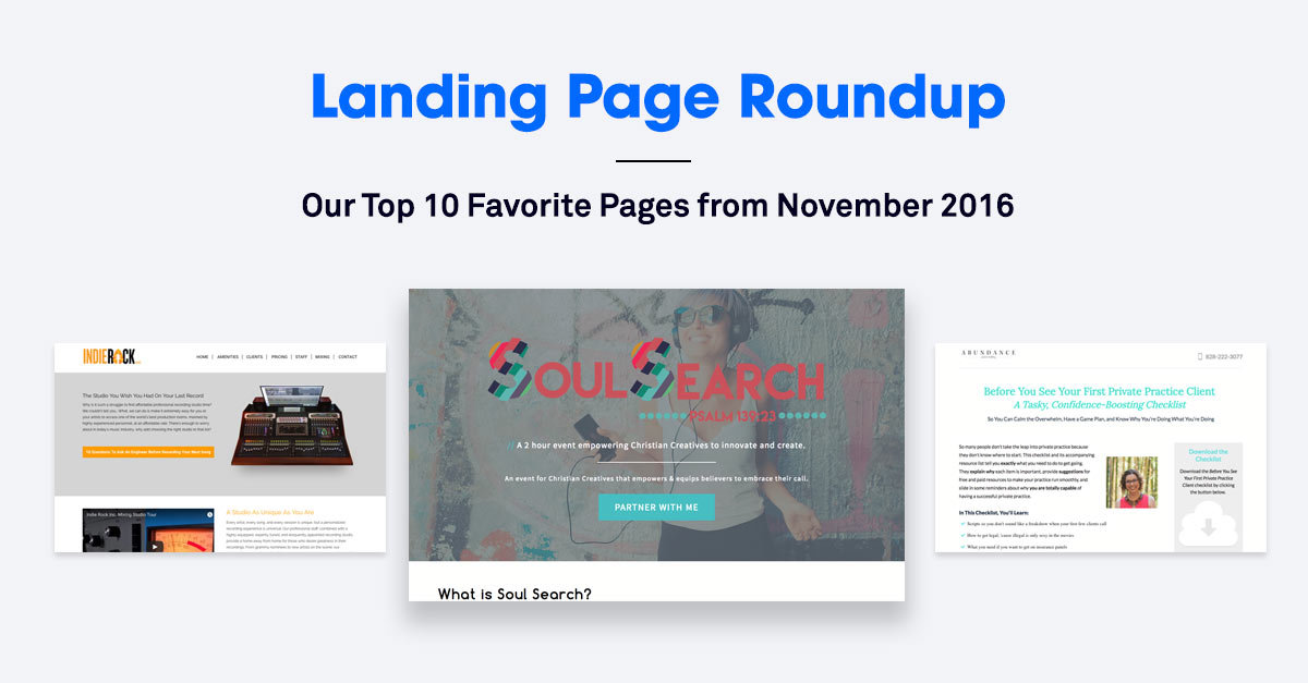The 10 Best Landing Pages We Found in November 2016
