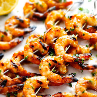 Honey Lemon Shrimp with Chili Butter Sauce