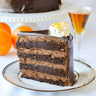 Chocolate Orange Truffle Cake with Chocolate Cointreau Glaze.