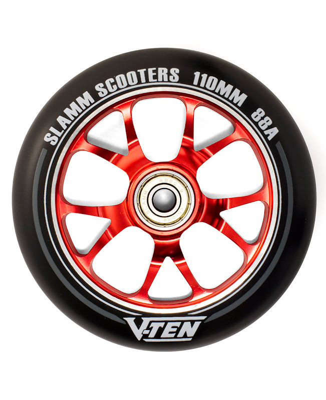 Slamm V-Ten II Wheels set 110mm Red