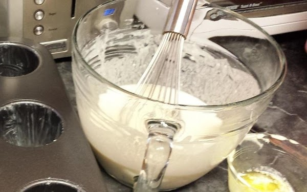 Use a large mixing bowl and a wire whisk. Beat the eggs, milk, and...