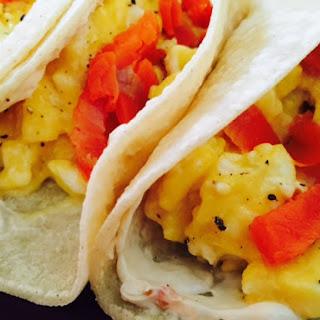 Smoked Salmon Breakfast Tacos.