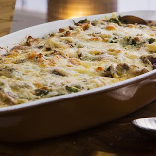 Baked Eggs with Mushroom, Pumpkin and Bacon Recipe
