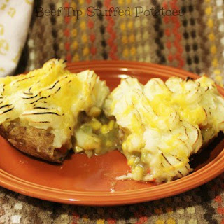 Beef Tip Stuffed Potatoes