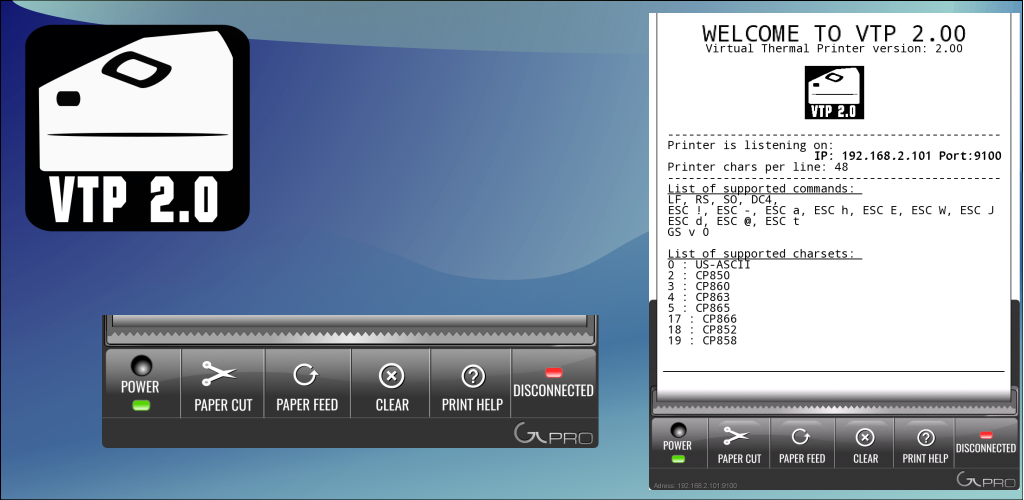 VTP - Virtual Thermal Printer 2 0 0 Apk Download - pl glpro vtp APK free