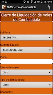SMSControlCombustible - náhled