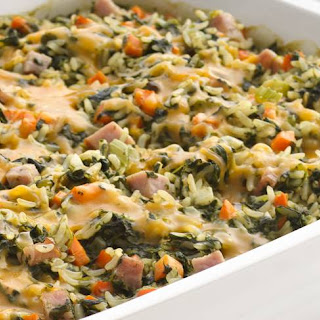 Skinny Spinach and Rice Casserole.