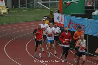 Photo: Doorkomst Amsterdam Marathon 2004
