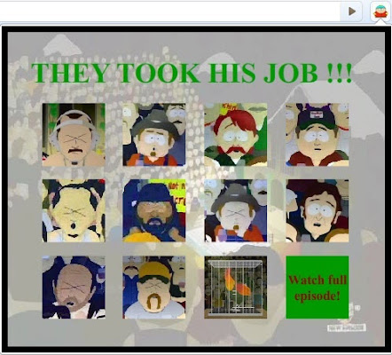 """they took our jobs """"they took our jobs"""" is a memorable quote from the animated television series  south park which is often used to mock xenophobic attitudes and."""