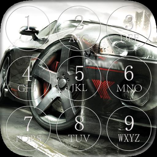 Street Racing Password Lock Screen