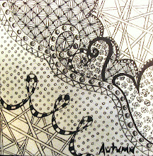 Photo: Student Work:  Pen and Ink 'Zentangle'....
