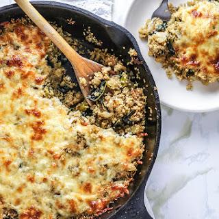 Kale & Leek Quinoa Stuffing Skillet