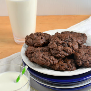 100% Whole Wheat, Double Chocolate Mint Chip Cookies