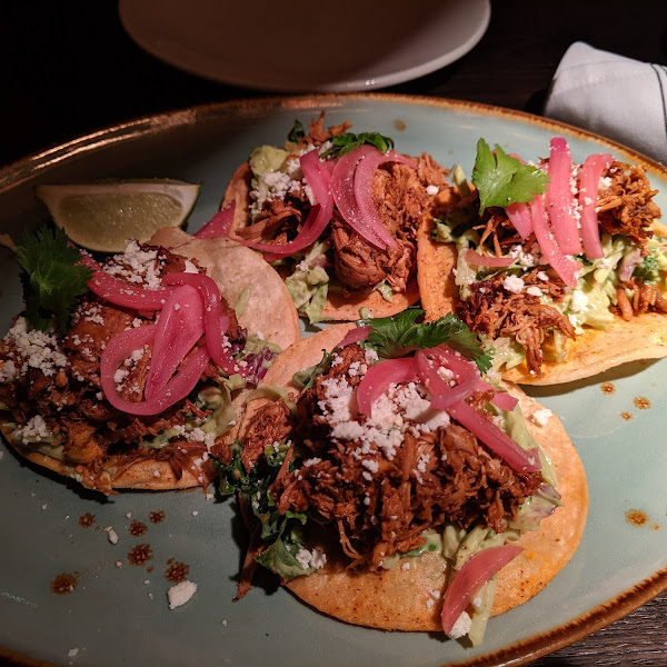 Chicken tostadas were delish!