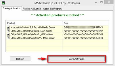 Backup & Restore Activation [Windows - Office - Server]