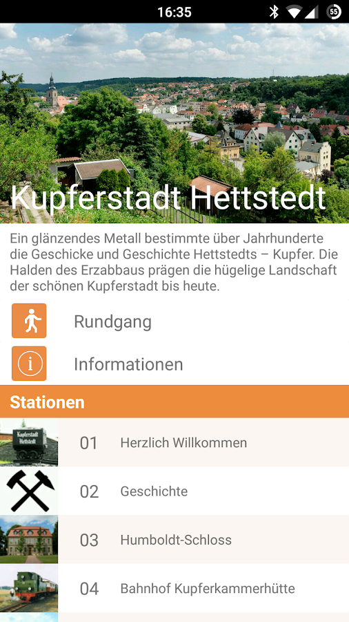 Audioguide Hettstedt- screenshot