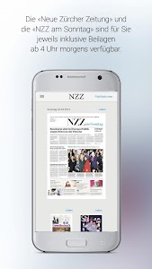 NZZ E-Paper screenshot 1