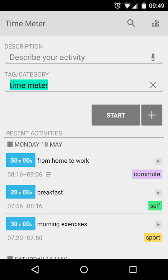 Time Meter Time Tracker - screenshot