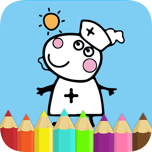 Coloring Book for Pink Pig Icon
