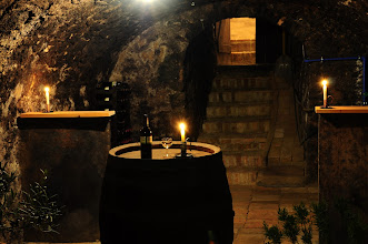 Photo: Blick von der Kellerröhre zum Presshaus