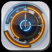 3D Neon Blue Clock
