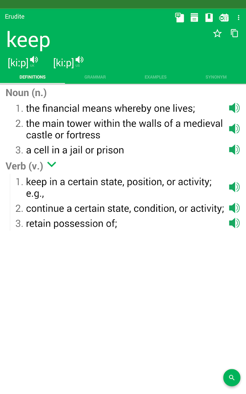 Erudite Dictionary, Translator & Widget Screenshot 15