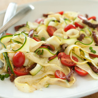 "Raw Vegetable ""Pasta"" with Tomatoes and Herbs"