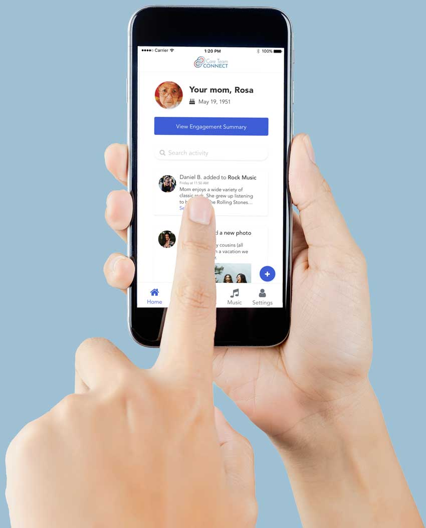 Care Team Connect Mobile App Feed