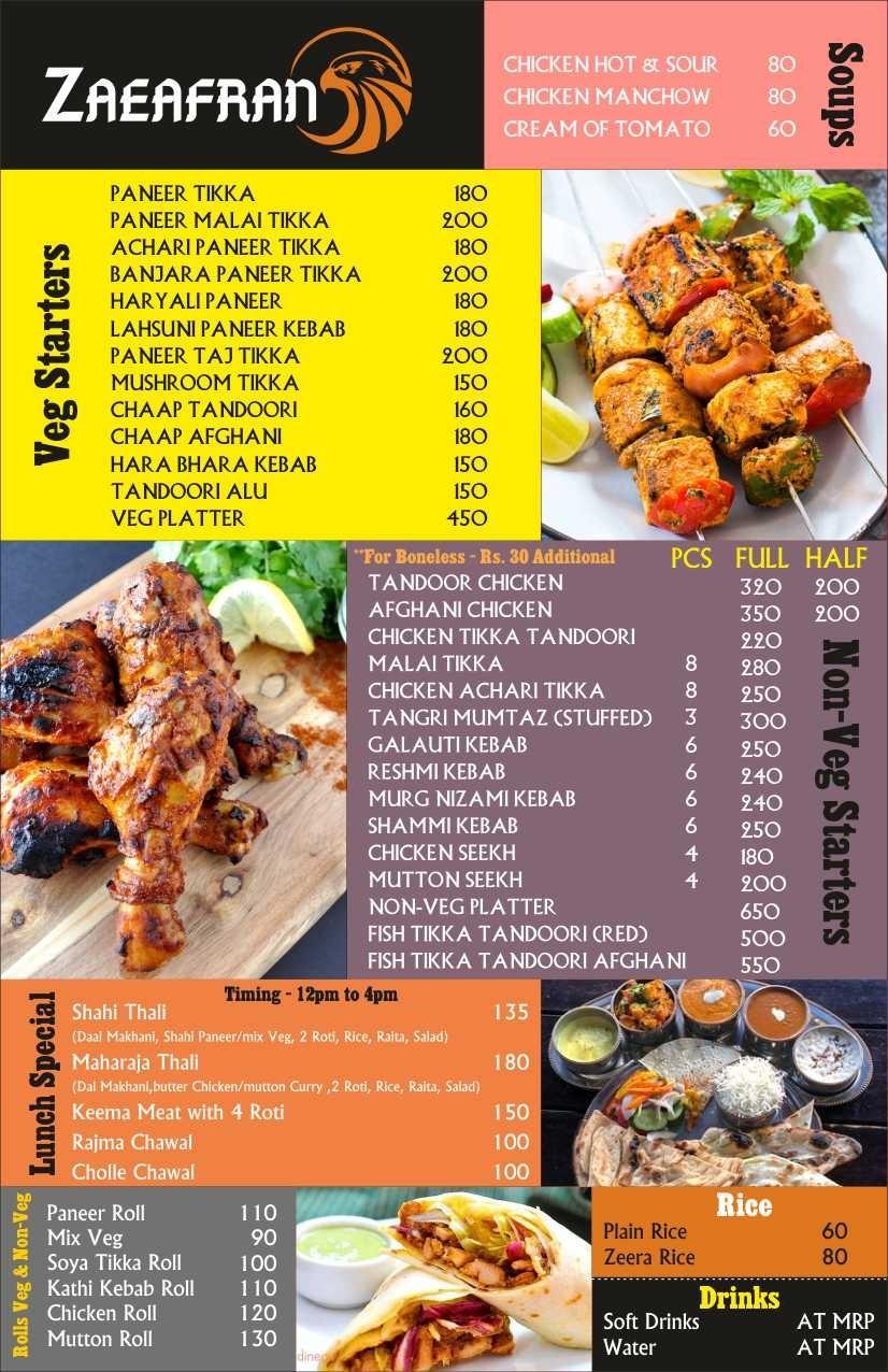 Zaeafran menu 3