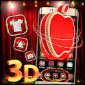 3D Luxury Red Apple Theme 🍎 icon