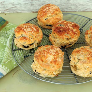 Smoky Cheese And Olive Scones.