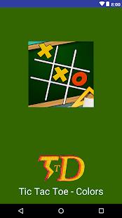Tic Tac Toe - Colors - náhled
