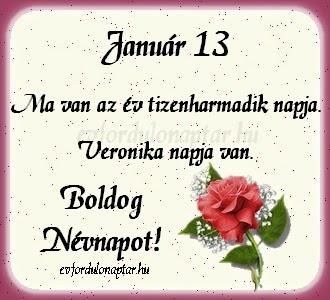 Január 13 - Veronika névnap