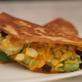 Spicy Pumpkin, Black Bean and Avocado Quesadillas for Leftover Pumpkin Puree