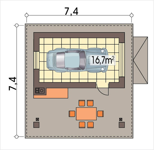Garażowiata 2 - Rzut garażu