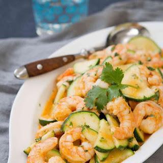 Thai Shrimp Stir Fry Recipe with Zucchini.