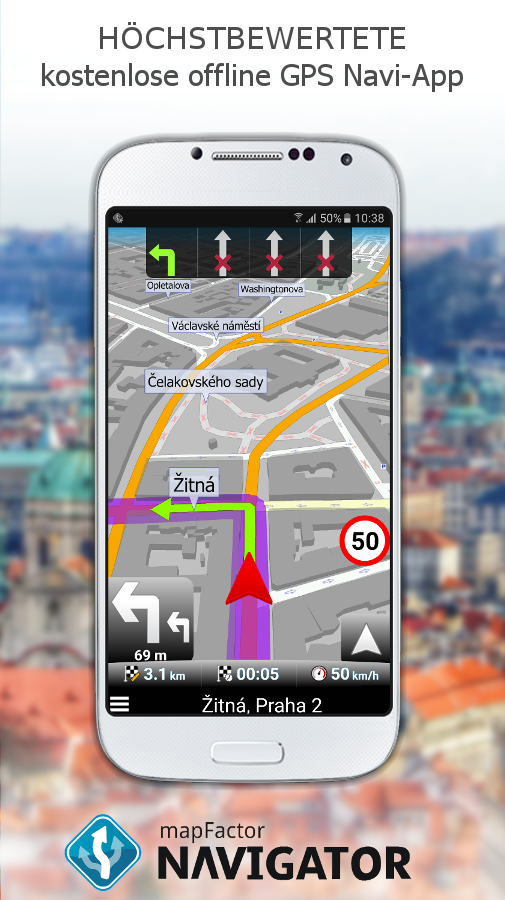 MapFactor: GPS Navigation – Screenshot