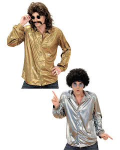 Discoskjorta, glittrig