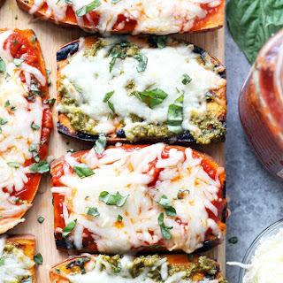 Easy Grilled Sweet Potato Pizzas.