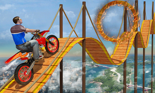 Bike Tricks Trail Stunt Master -Impossible Tracks apktreat screenshots 1
